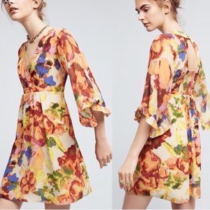 Maeve Deloria Printed Silk Dress